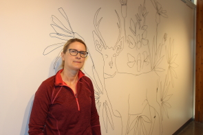 Diana Zasadny was inspired by the Waterton Lake fire for her new exhibit Shadows From the Fire. Photo by Richard Amery