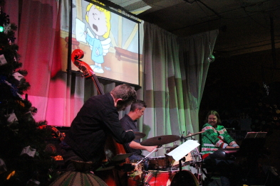 TJ Waltho and friends play A Charlie Brown Christmas, Dec. 28. Photo by Richard Amery