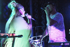 Chersea singing with Royal Oak's Austin Ledyard. Photo by Richard Amery