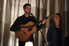 Clayton and joelle at the Owl Acoustic Lounge, Nov. 25. Photo by Richard Amery
