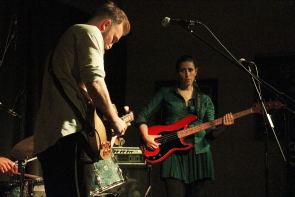 Joey Landreth and meg Dolowich at the Geomatic Attic, Nov. 25. photo by Richard Amery