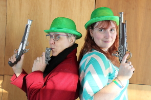 "Juanita Devos Michelle Couper a from the Windy City Medieval Faire are excited about their St. Patrick's Day Interactive Murder mystery ""Kill me I'm' Irish"" at the Galt Museum at 6 p.m. March 17. Photo by Richard Amery"
