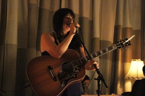 Kimberley MacGregor playing the Owl Acoustic Lounge  earlier this year. Photo by Richard Amery