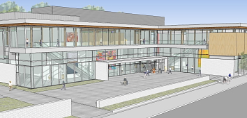 An artist's depiction of the new Lethbridge Community Arts Centre. Photo submitted