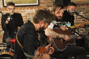 Rylan Moranz, Kyle Harmon, Leeroy Stagger and Steve Marriner at Brick and Mortar, June 4. photo by Richard Amery