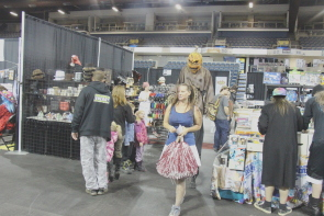 A lot of people dressed for the lethbridge entertainment Expo. Photo by Richard Amery