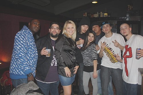 Moka Only, SonReal, James Nisihima and friends after the show. Photo by Richard Amery