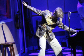 Hunter Semrau plays Jerry Lee Lewis in New West Theatre's Million Dollar Quartet.Photo by Richard Amery