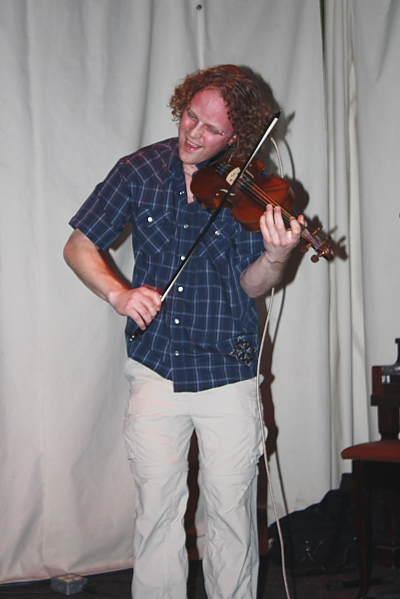 Scott Duncan played some impressive fiddle lines. Photo By Richard Amery