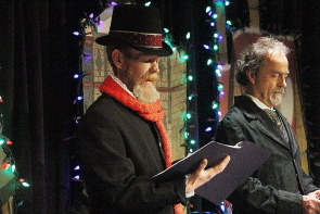 Jeff Graham and Bryson Brown performing in last year's  Shakespeare Meets Dickens, which returns to Casa, Dec. 14. Photo by Richard Amery
