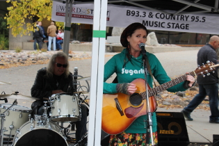 Jolene Draper playing Word on the Street in 2018. Photo by Richard Amery